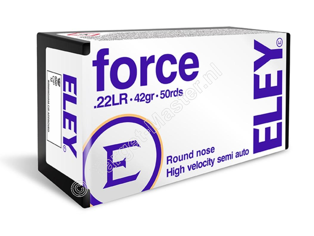 Eley FORCE Ammunition 22 Long Rifle 42 grain Lead Round Nose