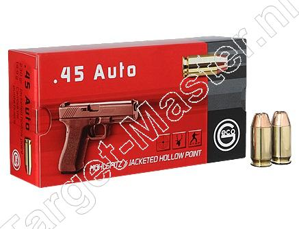Geco Munitie .45 Auto 230 grain Jacketed Hollow Point
