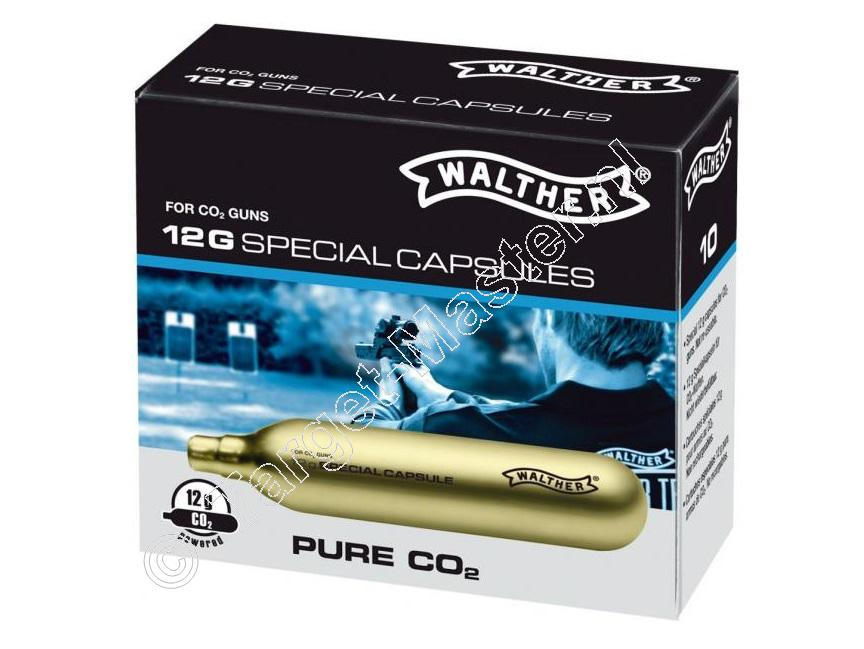 Walther SPECIAL CAPSULES Co2 Capsules 12 gram, 10 pieces