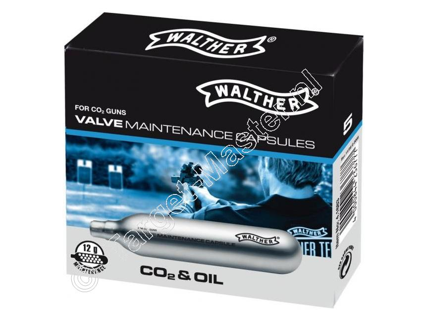 Walther VALVE MAINTENANCE CAPSULES Co2 Capsules 12 gram, 5 pieces