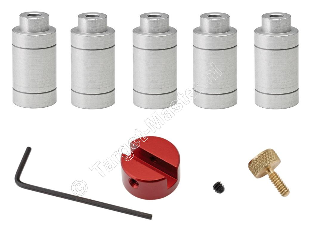 Hornady Lock-N-Load CARTRIDGE HEADSPACE GAUGE KIT, Body with 5 Bushing Set